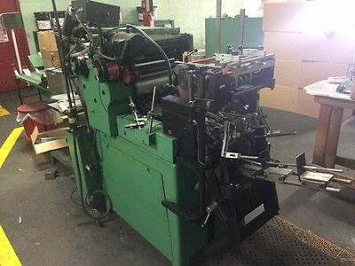 2 color HALM SUPER JET Envelope Press two model JP-TWOD-6D printing rebuilt 2012