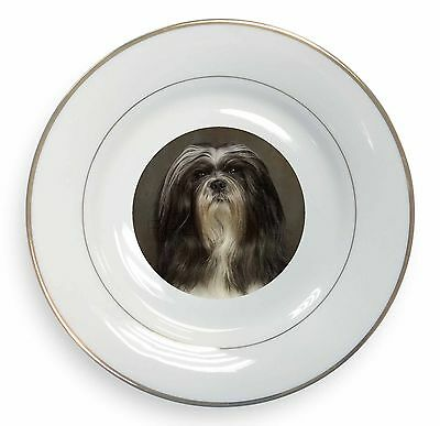 Lhasa Apso Dog Glass Paperweight in Gift Box Christmas Present AD-LAP1PW