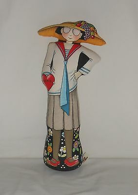 """The Toy Works Mary Engelbreit 15"""" Cloth Doll Door Stop with Weighted Bottom"""
