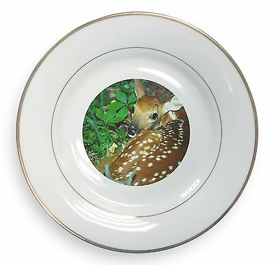 Cheeky Baby Deer Stag Black Rim Glass Coaster Animal Breed Gift ADE-5GC