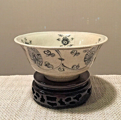 Authentic 16th A.D. Ming Dynasty Ceramic Bowl with Buddhist Emblems