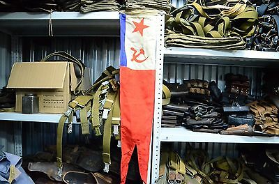 Military USSR Maritime flag, battleship Naval Fleet VMF,signal flag wool