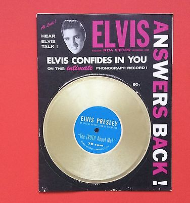 Elvis Presley-Very Very Rare Purple Elvis Answers Back With Disc
