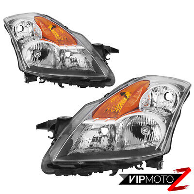 {FACTORY STYLE} Chrome Reflector Headlights Lamp SET For 2007-2009 Nissan Altima
