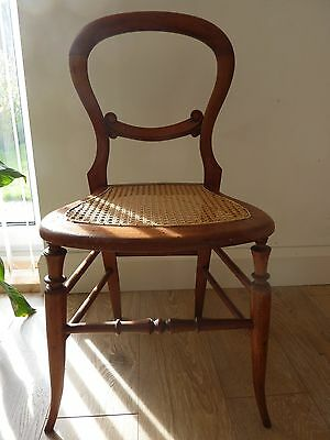 Antique Chair, Balloon Back, Cane Seat