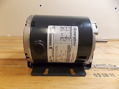 Marathon Electric Thermally Protected A/C Motor 1/3 HP 1725 RPM #48S17D2108L