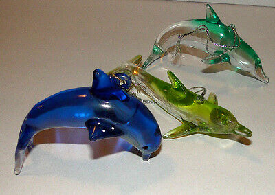 Lot of 3 Dolphin Nautical Ocean Animal Decor Statue Figurine Ornament