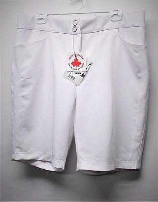 New Ladies Size US 16 Dexim polyester rayon spandex white golf shorts