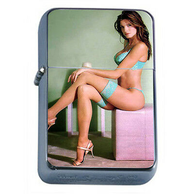 California Pin Up Girls D9 Windproof Dual Flame Torch Lighter Refillable