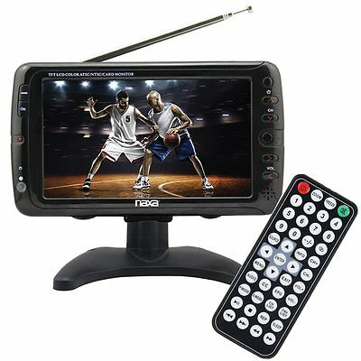 """Portable 7"""" Tv & Multimedia Player With Remote Control"""