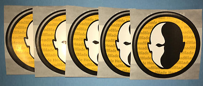 5 Lot Head Blade Shaving Razors Bumper Stickers Decals