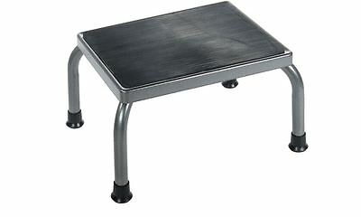 Footstool with Non-Skid Ribbed Rubber Platform - Steel Welded - (Holds 300 lbs)