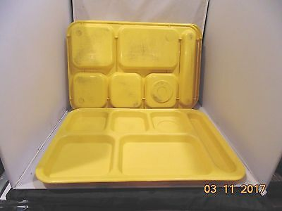 Lot of 5 Cambro PS1014 School Cafeteria Food Serving Lunch Trays Yellow  USA