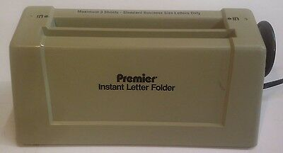 Instant Letter/paper Folder By Premier Model 1400 Martin Yale 115V Up To 3 Sheet