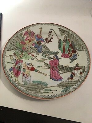 19th Century Antique Chinese Porcelain Plate Hand Painted TONGZHI 1862-1874��