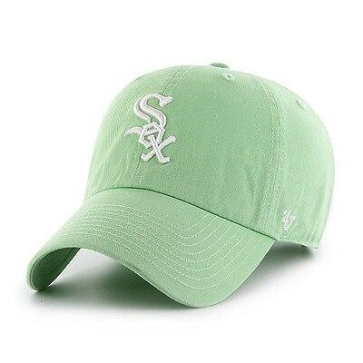 uk availability db9d6 8eafa  47 Brand MLB Chicago white sox Green Clean Up Cap Retro Dad Hat New