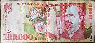 ROMANIA - 100 000 LEI - 1998 - Ticket from bank Quality : VERY GOOD