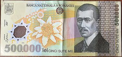 ROMANIA - 500 000 LEI - 2000 - Ticket from bank Quality : TTB