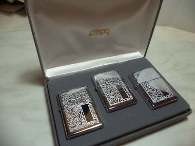 Zippo Accendino Lighter Feuerzeug Set Venetian Very Rare New