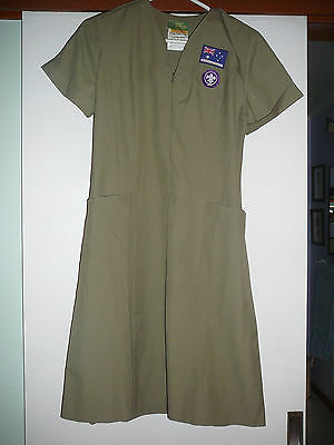rare vintage boy scout girls dress not shirt with  badges
