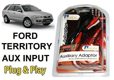FORD TERRITORY AUXILIARY AUX ADAPTOR AERPRO iPHONE iPOD iPAD SAMSUNG ANDROID