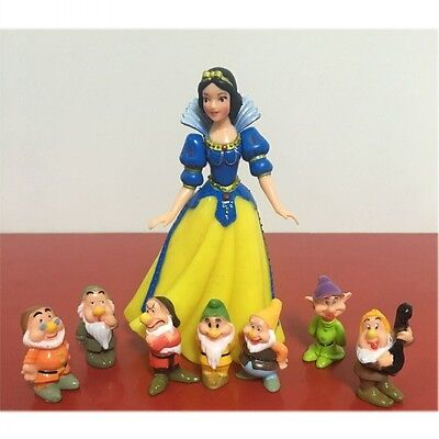 Snow White and the Seven Dwarfs Figure Collection Cake Decorations Girl Toy Gift