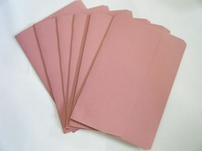 Pink Foolscap Document Wallets Paper Storage Files Folders 250gsm Half Flap