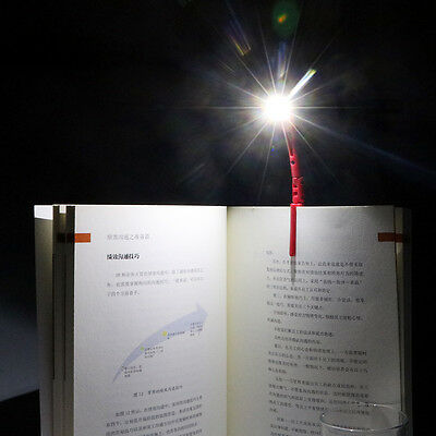 Flexible LED Book Lights Reading Lamp with Clip for Reader Kindle with Battery