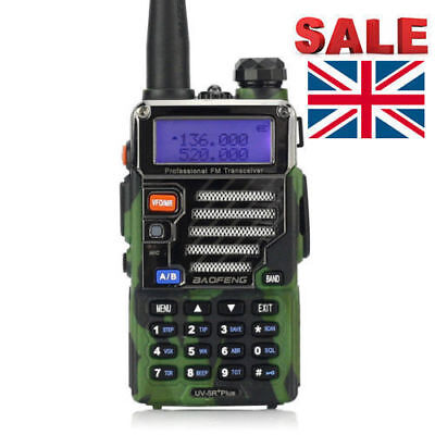 EU Plug BaoFeng UV-5R Plus Camouflage Dual Band 136-174/400-520MHz Two Way Radio