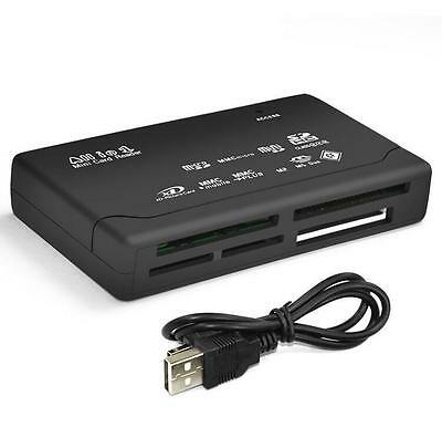 Black Micro MS CF SD All in One SDHC Memory Card Reader New MMC XD USB M2