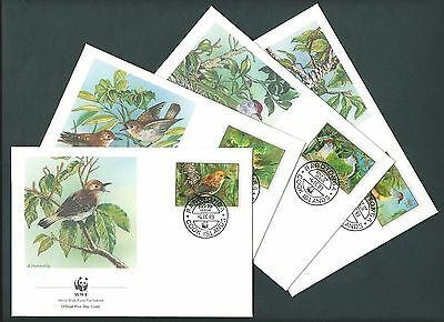 Cook Island 1989 FDC. WWF  Birds of the Cook Island. Set of 4 Covers  (14))