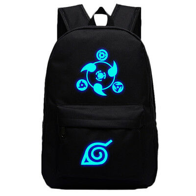 2017 Anime Naruto Logo Backpack School Bag Sport Laptop Bags Sack Luminous Black