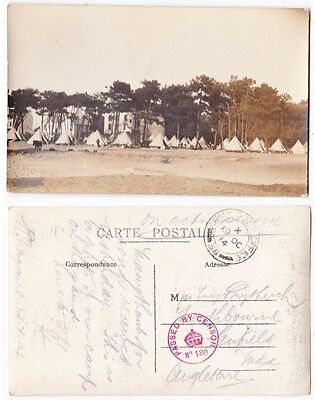 Early Postcard, Military, Camp, Army Post Office , Post Mark,1914, RP