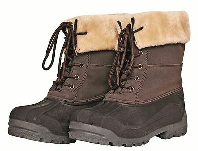 HKM THERMO WATERPROOF Horse Mucker Yard Stable Boots | Fur Lining | Black Brown