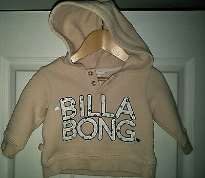 baby girl billabong hooded jumper size 0