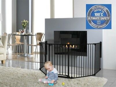 Child Safety Gate and Panels Playpen, Fire Barrier, Room Divider up to 3.7m Wide
