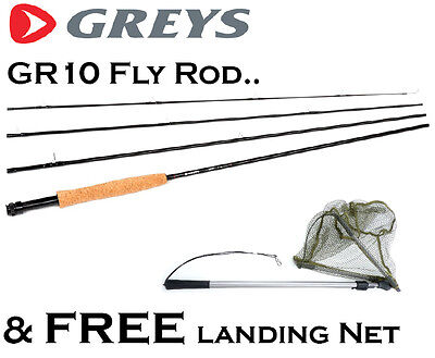 GREYS GR10 Fly Fishing Rod with a FREE Flip-Up Landing Net (TRRP £99+)