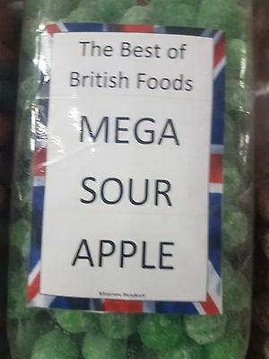 Barnetts Mega Sour Apple 100G, British Sweets Imported. Very Sour