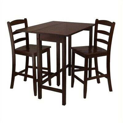 Winsome Lynnwood 3 Piece Dining Set In Antique Walnut