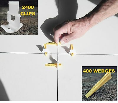 Tile Leveling System Kit 2400 Clips + 500 Wedges levelling Systems