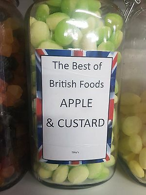 Apple And Custard Hard Boiled Sweets 100G