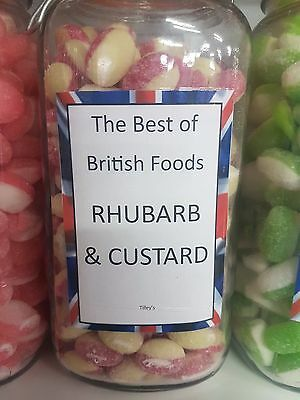 Rhubarb And Custard Hard Boiled Sweets 100G