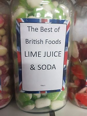 Lime Juice And Soda Hard Boiled Sweets 100G