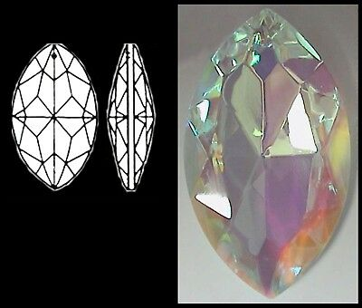 Crystal MARQUIS 50mm AB CLEAR FACETED POINTED OVAL Pendant MINOR FLAWS