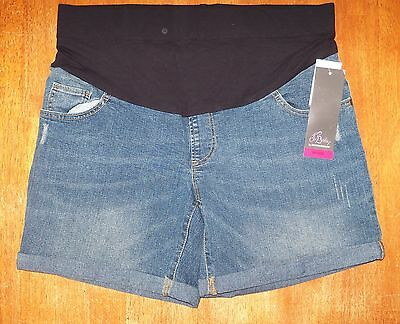 *NWT* Oh Baby by Motherhood Mid Belly Destructed Short.  FREE SHIPPING!