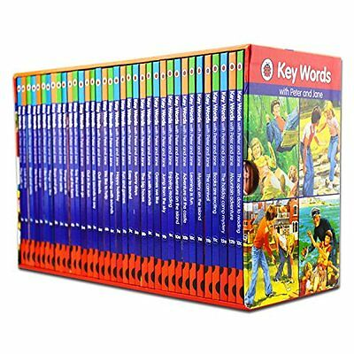 Ladybird Key Words with Peter and Jane Collection 36 Books Box Set