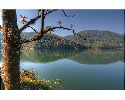 25x20cm Photo-A view of the beautiful lake Pokhara in Nepal.-12473991-8105