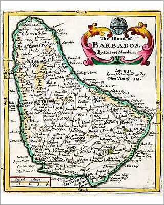 25x20cm Photo-17th century Map of Barbados-8713908-8105