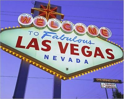 25x20cm Photo-Welcome to Las Vegas sign-1212139-8105