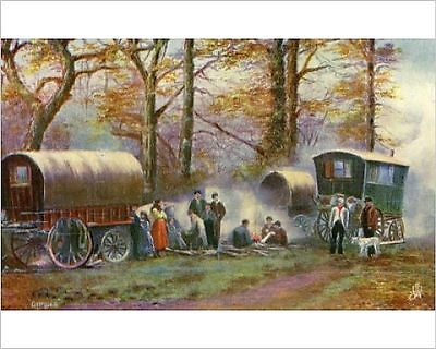 25x20cm Photo-Gypsy camp in the countryside-7678067-8105
